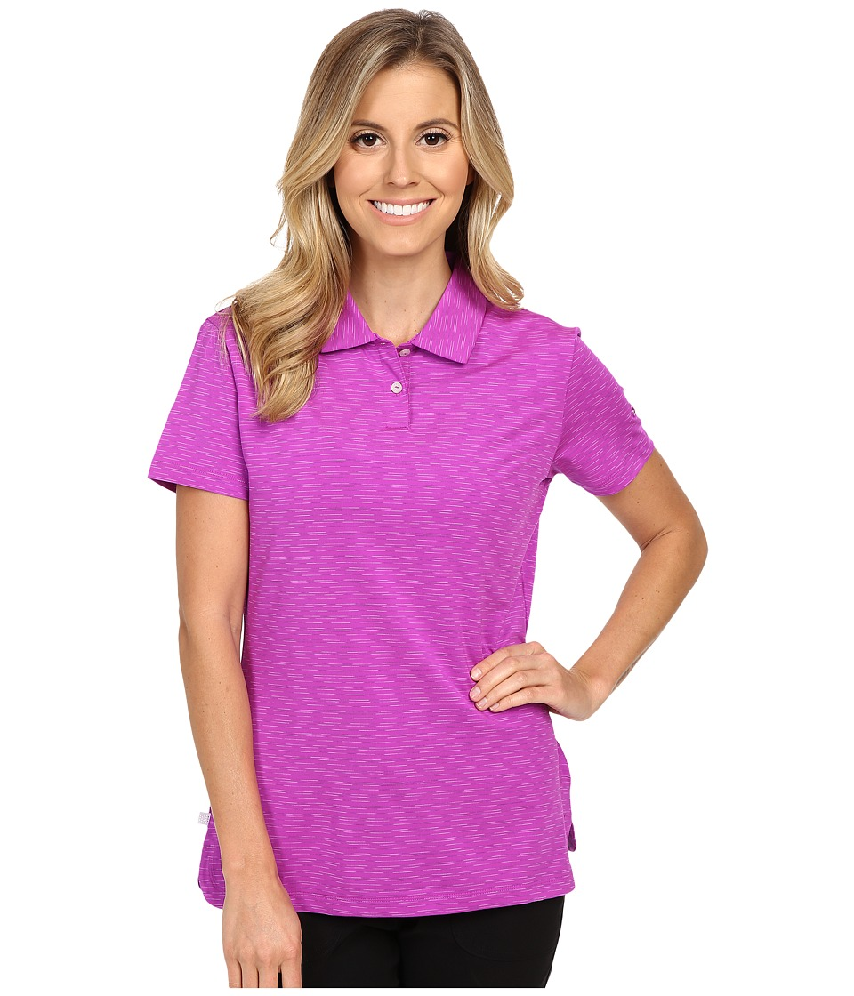 PUMA Golf - Space Dye Polo (Purple Cactus Flower) Women's Clothing