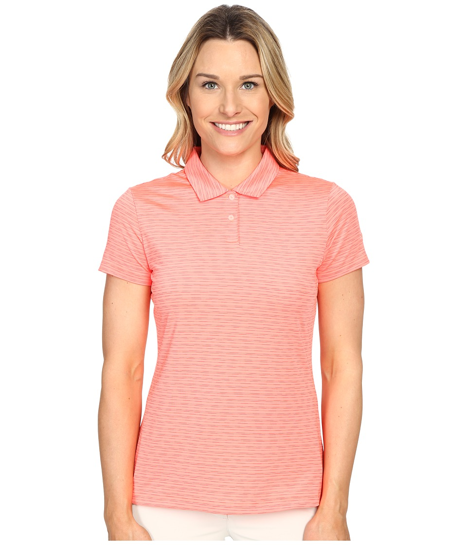 PUMA Golf - Space Dye Polo (Fluro Peach) Women's Clothing