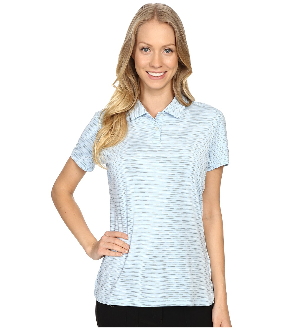 PUMA Golf - Space Dye Polo (Cool Blue) Women's Clothing