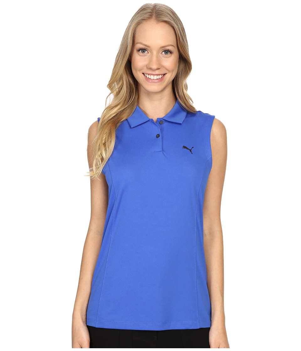 PUMA Golf - Pounce Sleeveless Polo (Dazzling Blue) Women's Sleeveless
