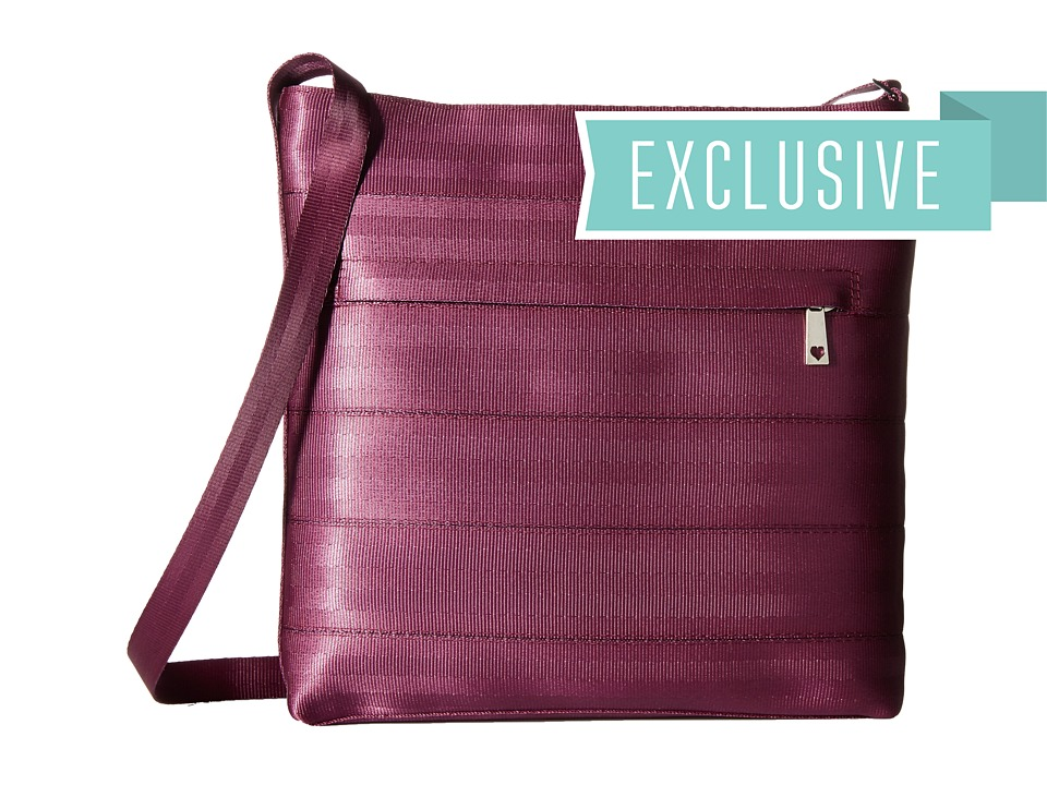 Harveys Seatbelt Bag - Streamline Crossbody (Plum) Cross Body Handbags