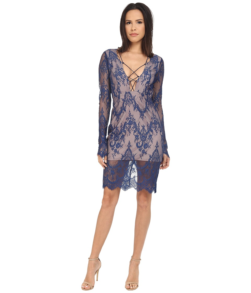 StyleStalker - Island of Love Dress (Blue Velvet) Women's Dress