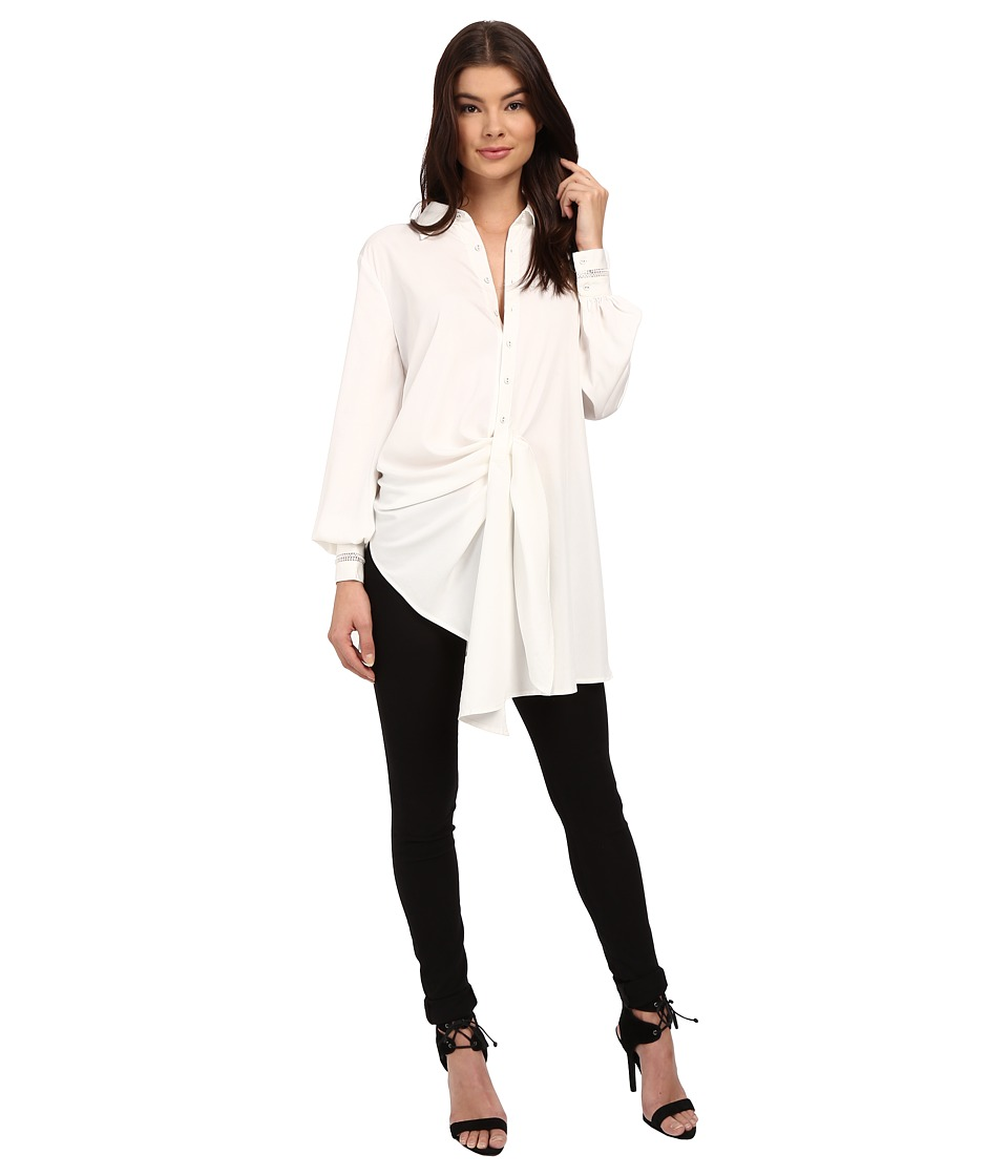 StyleStalker - Night Rider Shirt (Blanc) Women's Long Sleeve Button Up