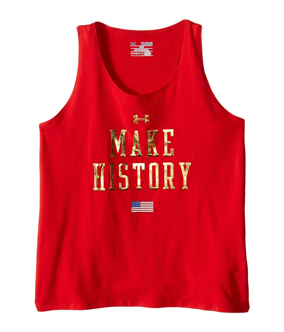 Under Armour Kids - Make History Tank Top (Big Kids) (Red/Red) Girl's Sleeveless