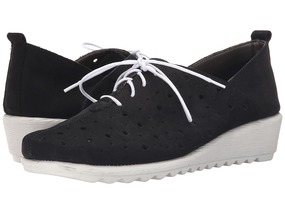 The FLEXX - Run Crazy Too (Black Nubuck) Women's Lace up casual Shoes