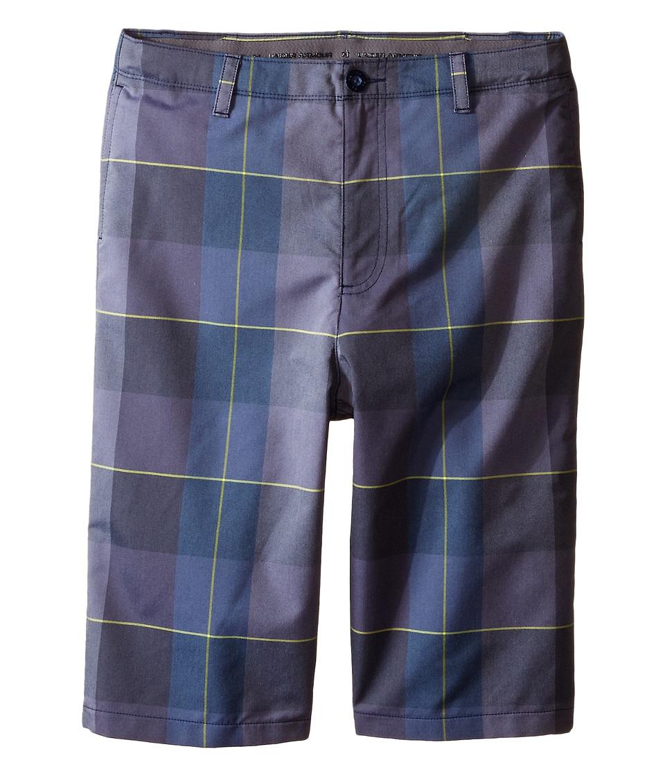 Under Armour Kids - Cross-Hand Yarn-Dye Shorts (Big Kids) (Navy Seal/Slate Blue) Boy's Shorts