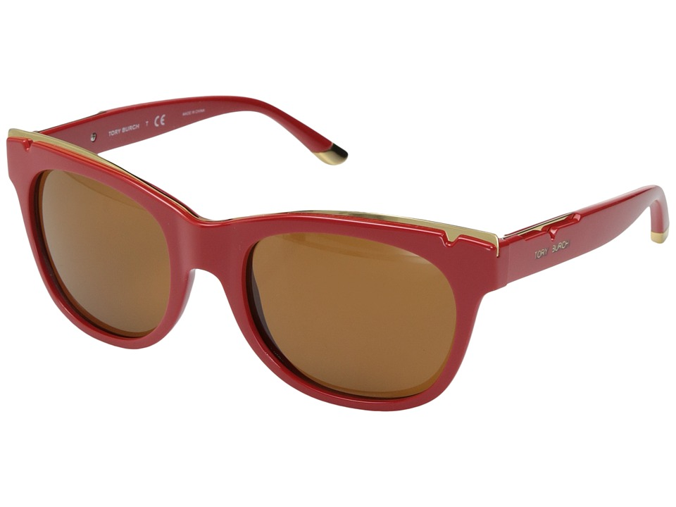 Tory Burch - 0TY9043 (Spark/Amber Solid) Fashion Sunglasses