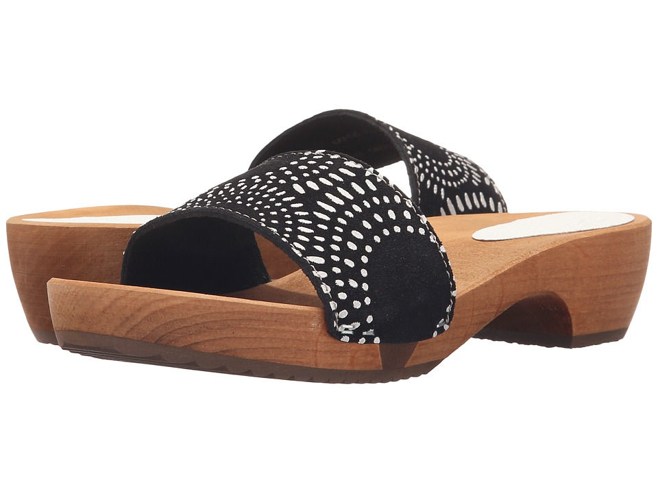 Sanita - Dine Round Flex Sandal (Black) Women's Sandals