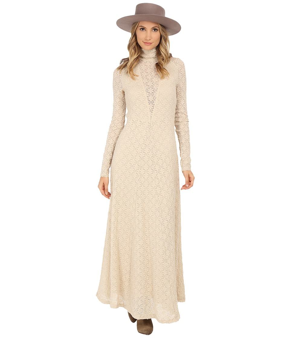 Free People - White River Maxi Dress (Almond) Women's Dress