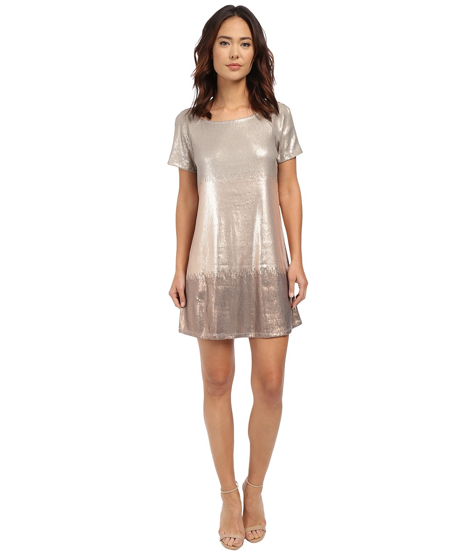 Free People - Drenched in Sequins Dress (Rose Gold Combo) Women's Dress