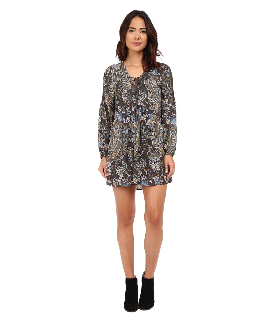 Free People - Rain or Shine Printed Dress (Black Combo) Women's Dress
