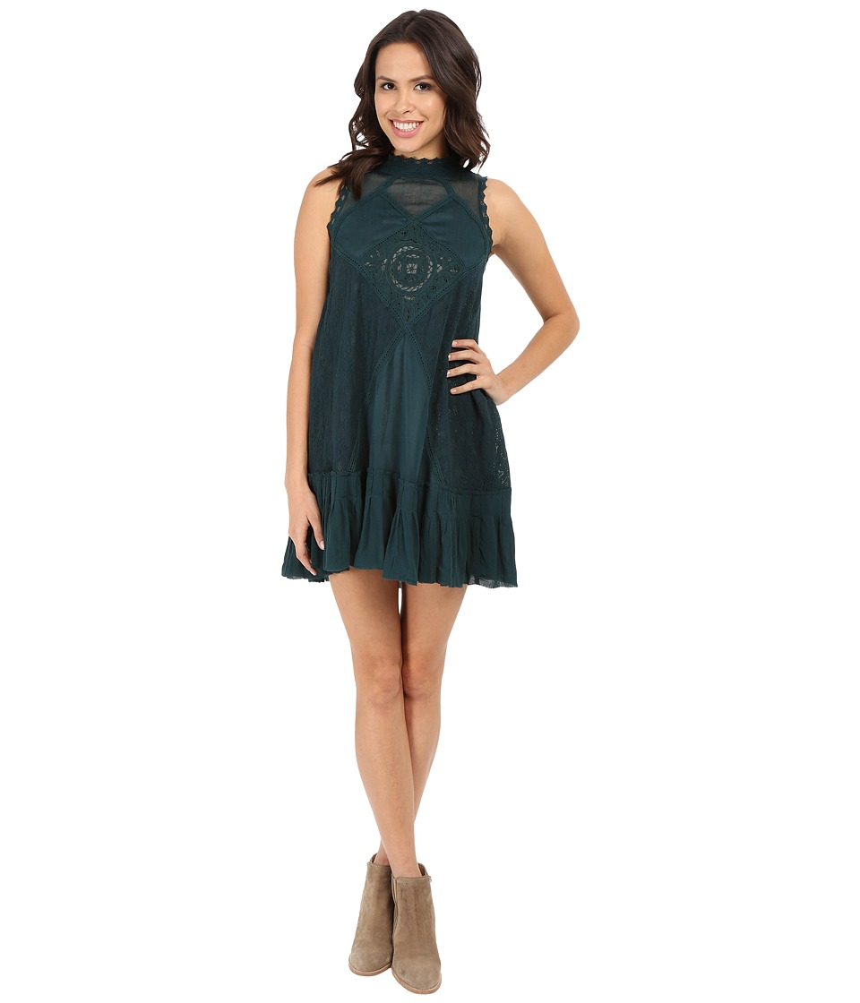 Free People - Angel Lace Dress (Jade) Women's Dress