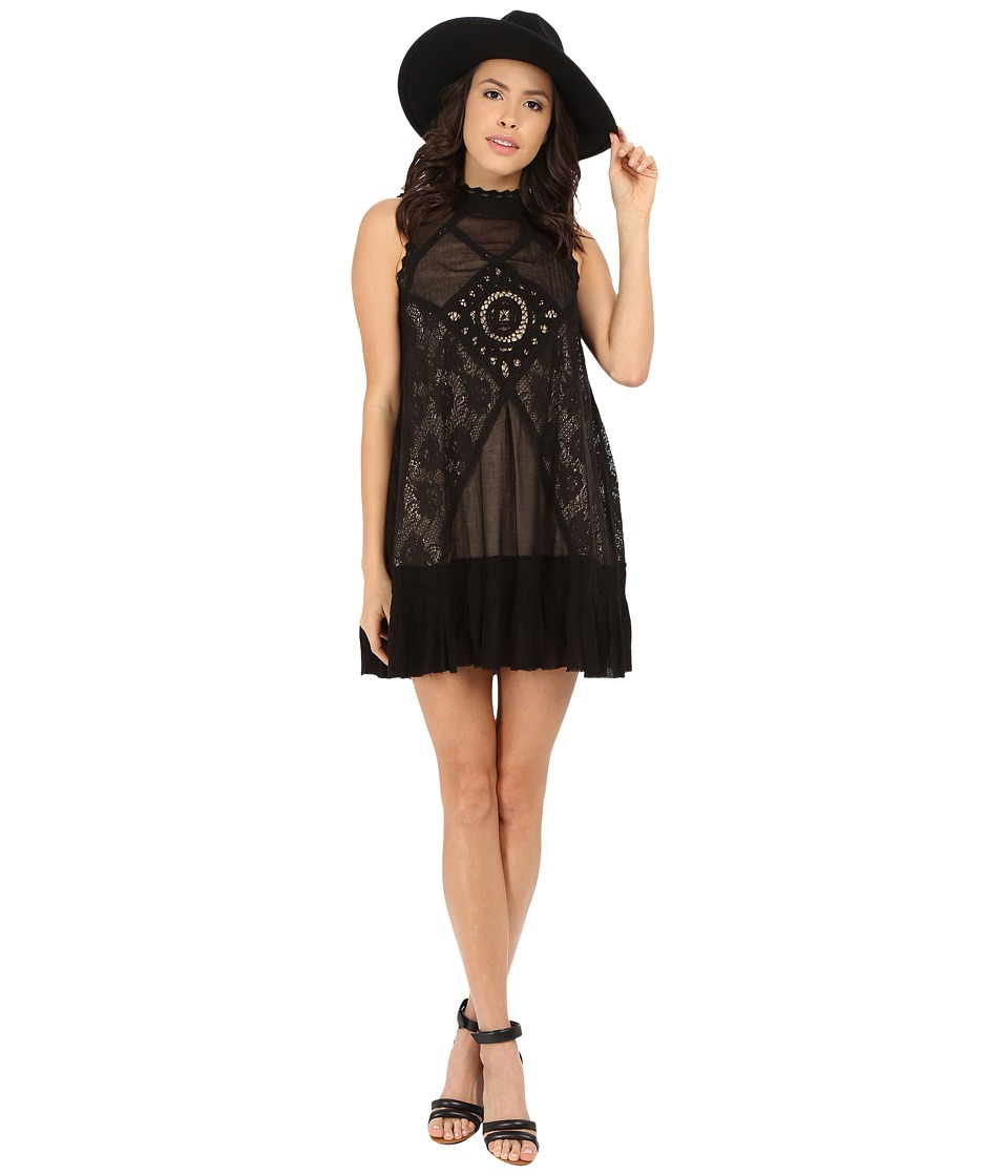 Free People - Angel Lace Dress (Black) Women's Dress
