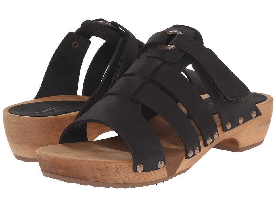 Sanita - Fatu Round Flex Sandal (Black) Women's Sandals