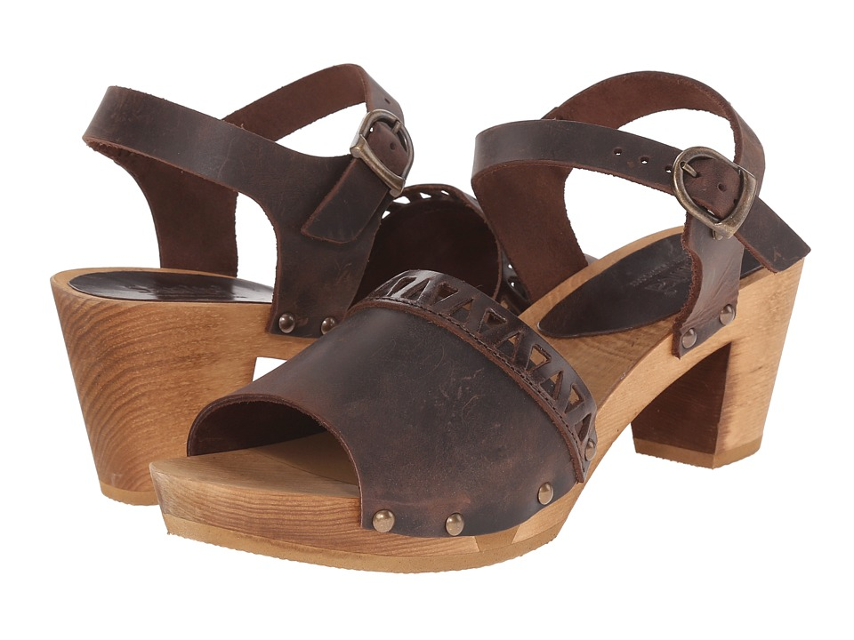 Sanita - Fryd Square Flex Sandal (Antique Brown) Women's Sandals