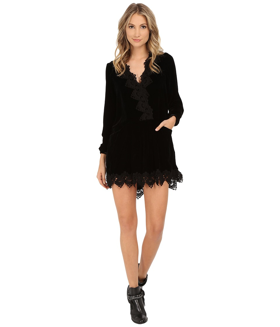 Free People - Premiere Velvet Dreams Tunic Dress (Black) Women