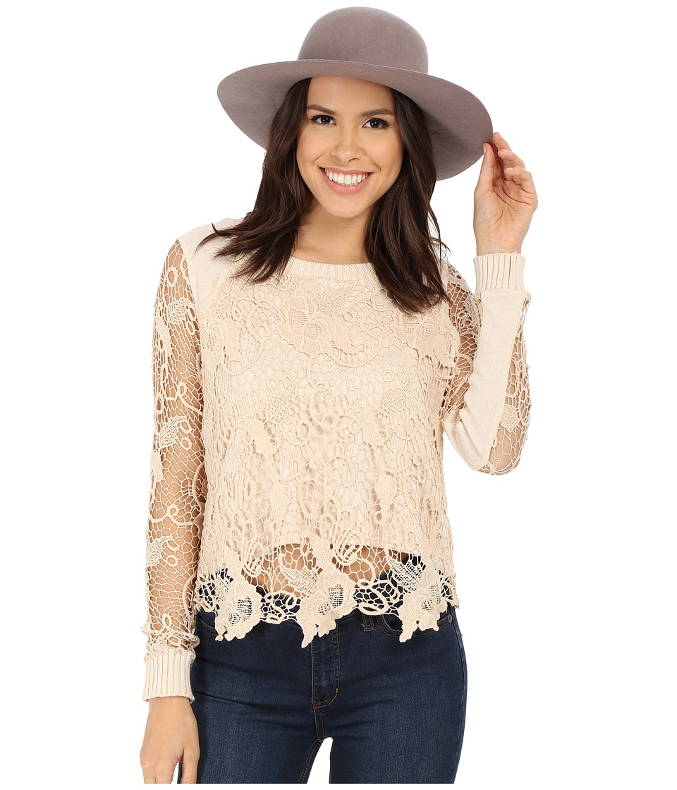 Free People - Pretty Rad Pullover (Champagne) Women's Sweater