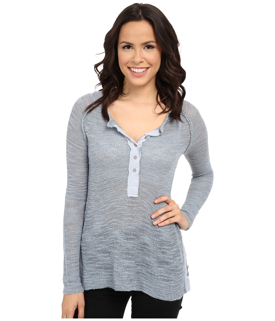 Free People - Mountain Song Henley (Storm) Women's Sweater