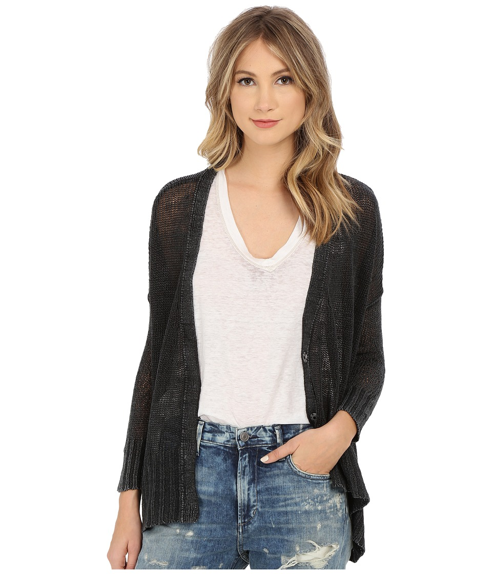 Free People - Vee Vee Cardigan (Washed Black) Women's Sweater