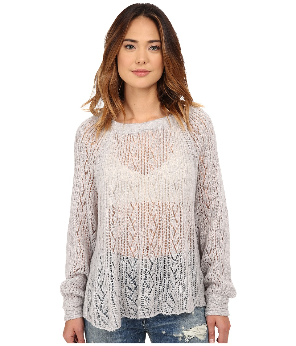 Free People - Lights Will Shine Pullover (Heather Grey) Women's Sweater