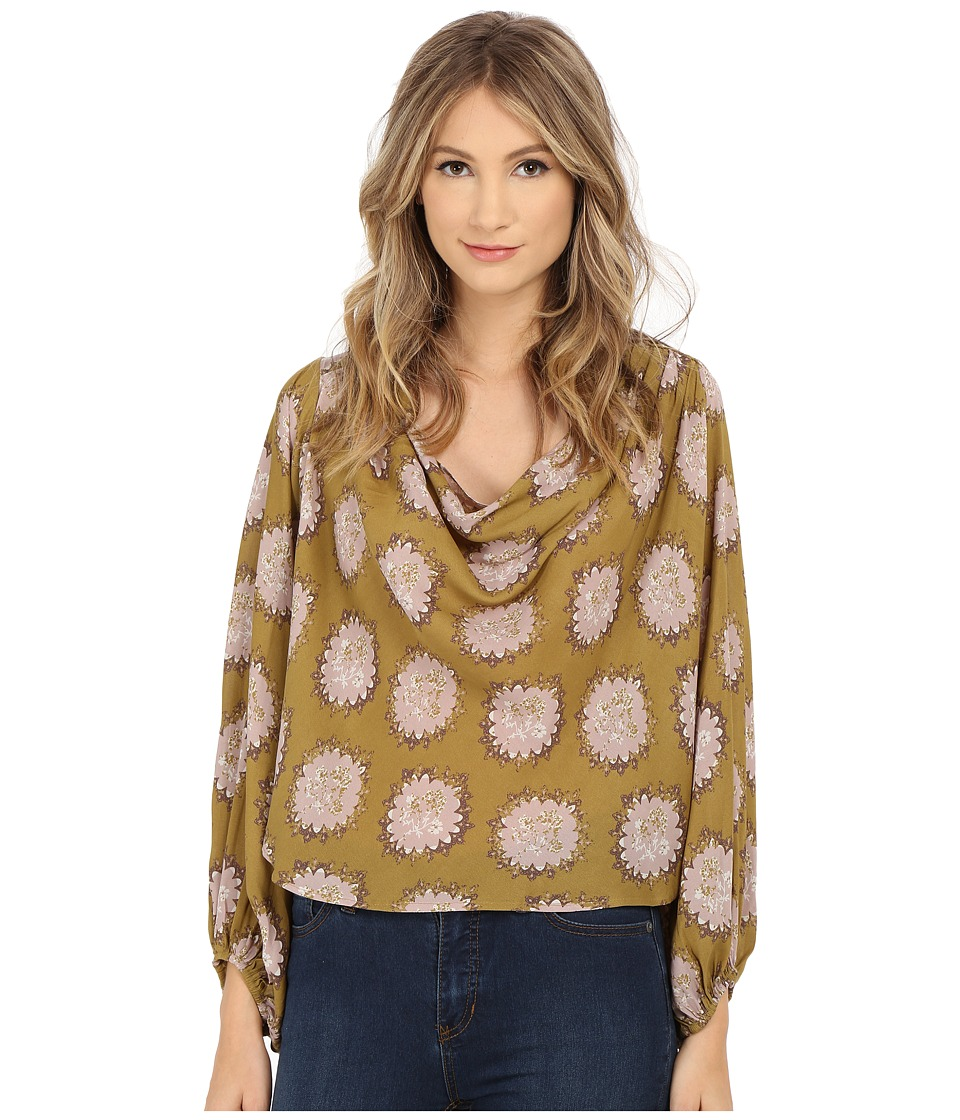 Free People - Printed Cowling Around Top (Godlenrod Combo) Women's Blouse