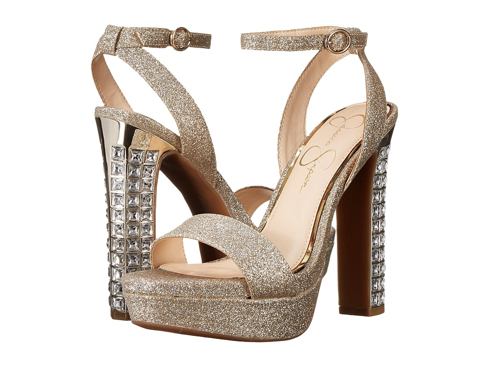 Jessica Simpson Banda (Silver/Gold Dusty Glitter) High Heels