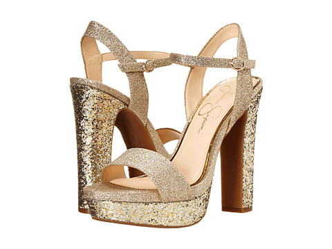 Jessica Simpson - Blaney (Silver/Gold) High Heels