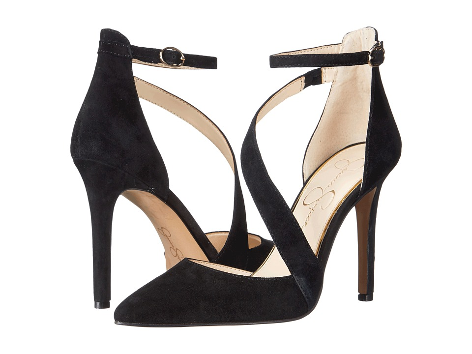 Jessica Simpson - Castana (Black Luxe Kid Suede) High Heels