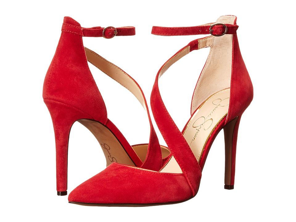 Jessica Simpson - Castana (Lipstick Luxe Kid Suede) High Heels