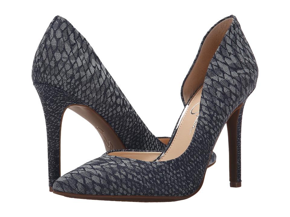 Jessica Simpson - Claudette (Indigo Combo Snake Print Denim) High Heels