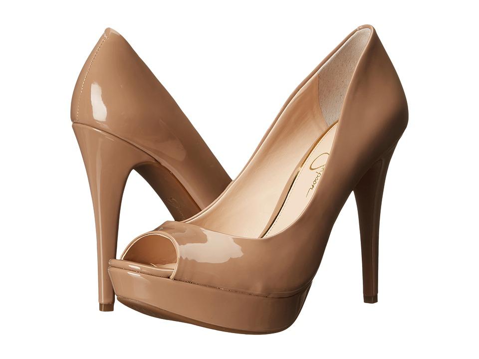 Jessica Simpson - Kelii (Nude Patent) Women's Toe Open Shoes