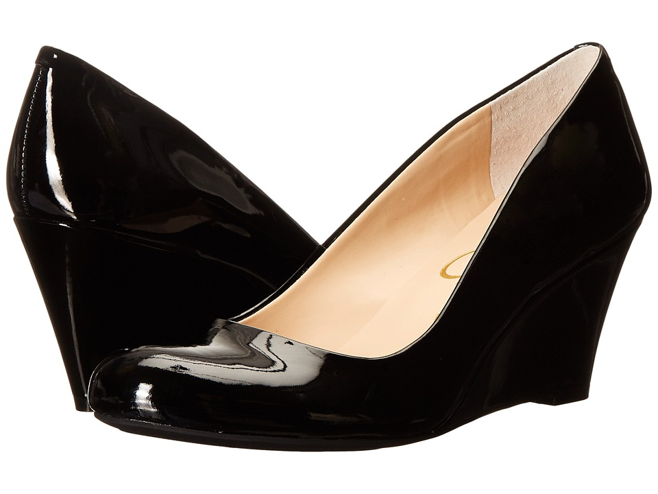 Jessica Simpson - Sampson (Black Patent) Women's Wedge Shoes