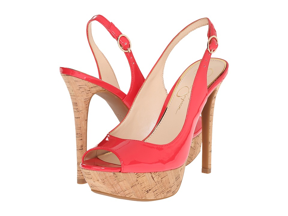 Jessica Simpson - Tacey (Pacifico Coral Patent) High Heels