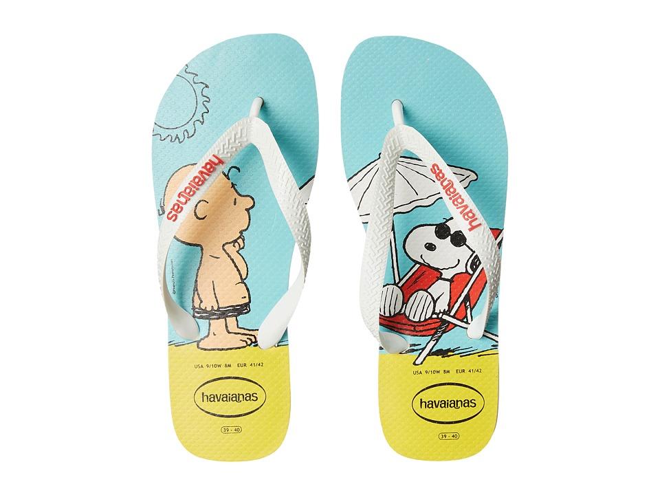 Havaianas - Snoopy Flip Flops (White/White) Women's Sandals
