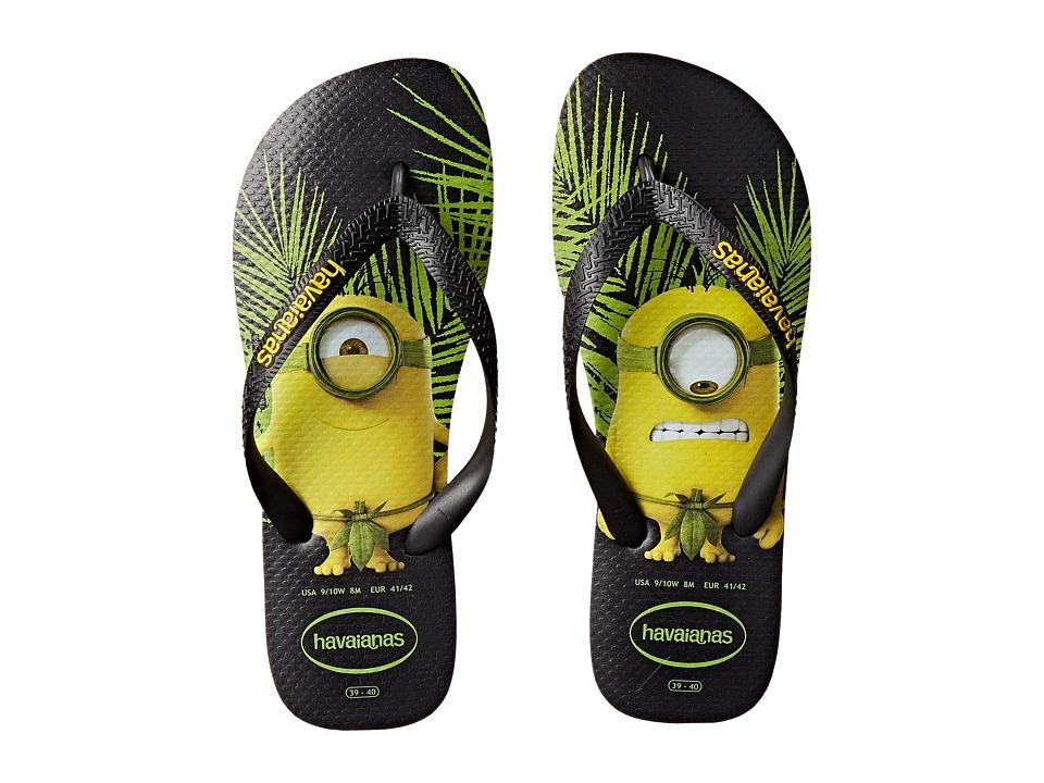 Havaianas - Minions Flip Flops (Black) Women's Sandals