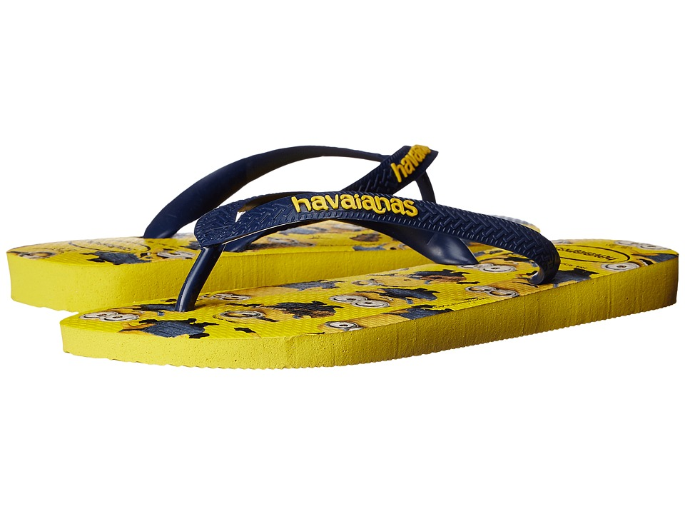 Havaianas - Minions Flip Flops (Yellow/Navy Blue) Women's Sandals
