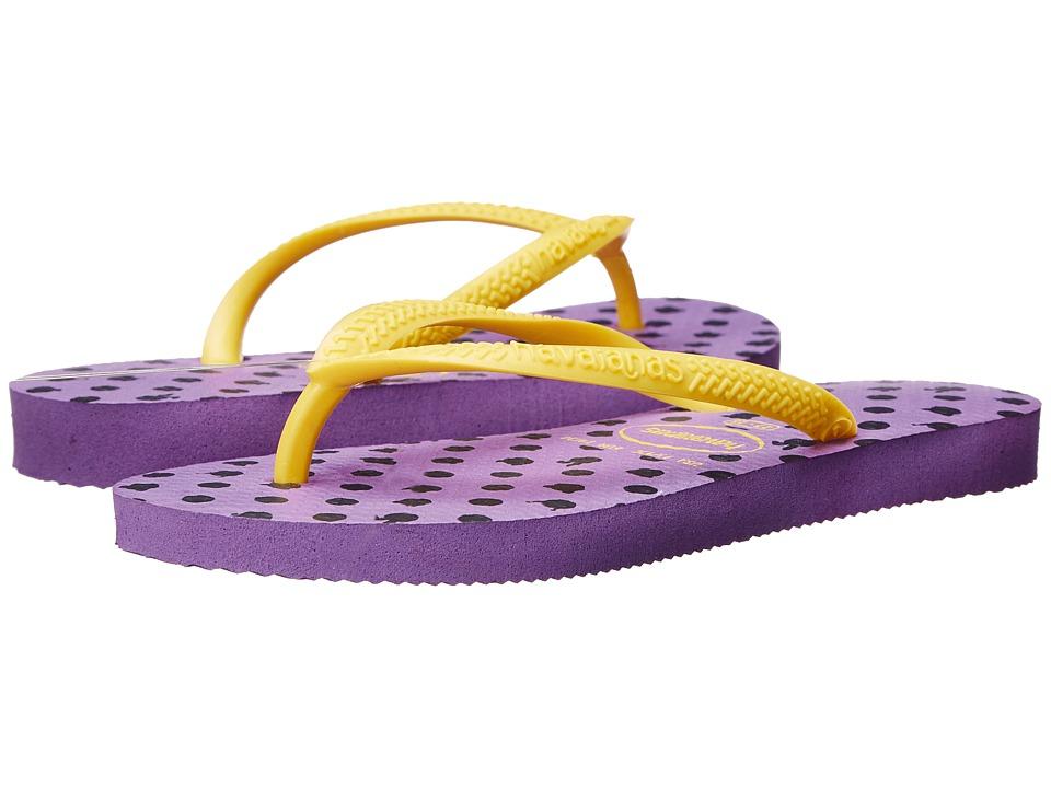 Havaianas Kids - Slim Fresh (Toddler/Little Kid/Big Kid) (Dark Purple) Girls Shoes