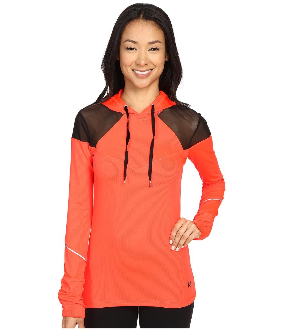 Zobha - Long Sleeve Hoodie w/ Mesh Panels (Firewater) Women's Sweatshirt