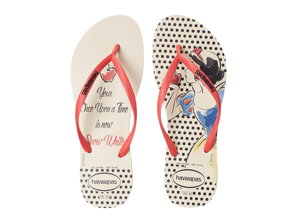Havaianas - Slim Princess Flip Flops (Beige/Red) Women's Sandals