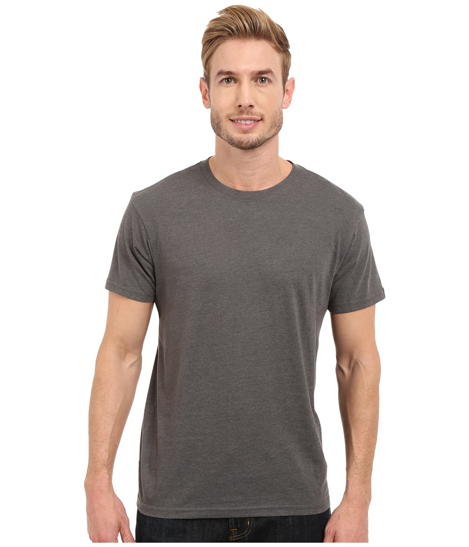 Prana - prAna Crew Tee (Charcoal Heather) Men's Short Sleeve Pullover
