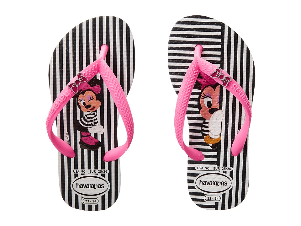 Havaianas Kids - Disney Cool (Toddler/Little Kid/Big Kid) (White/Shocking Pink) Girls Shoes