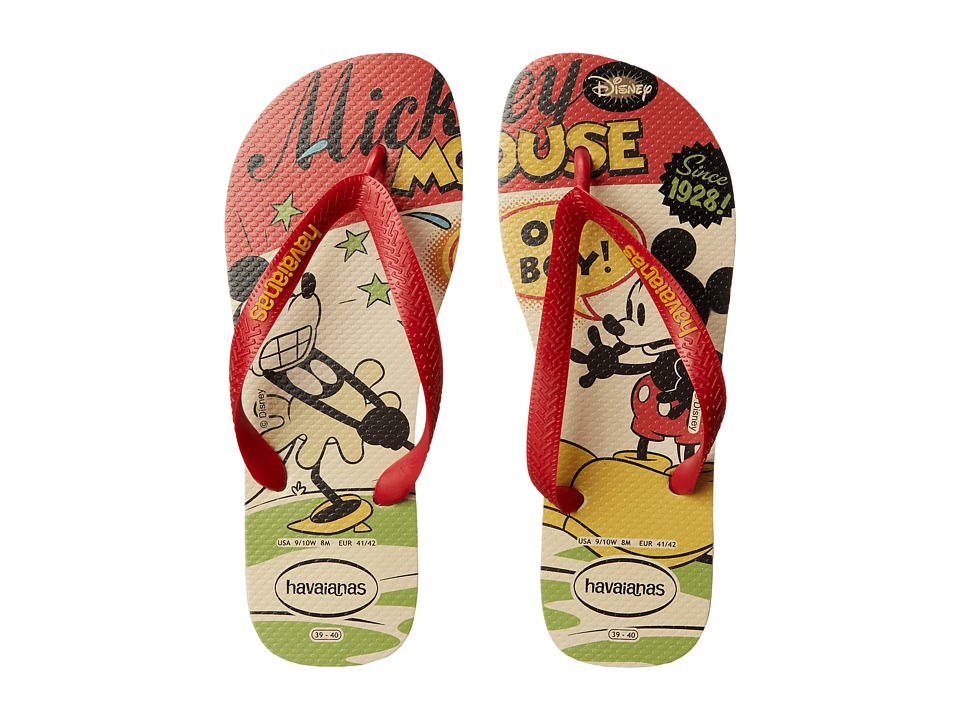 Havaianas - Disney Stylish Flip Flops (Beige/Red) Women's Sandals