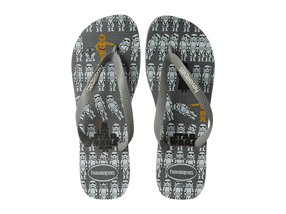 Havaianas - Star Wars Flip Flops (Steel Grey) Men's Sandals