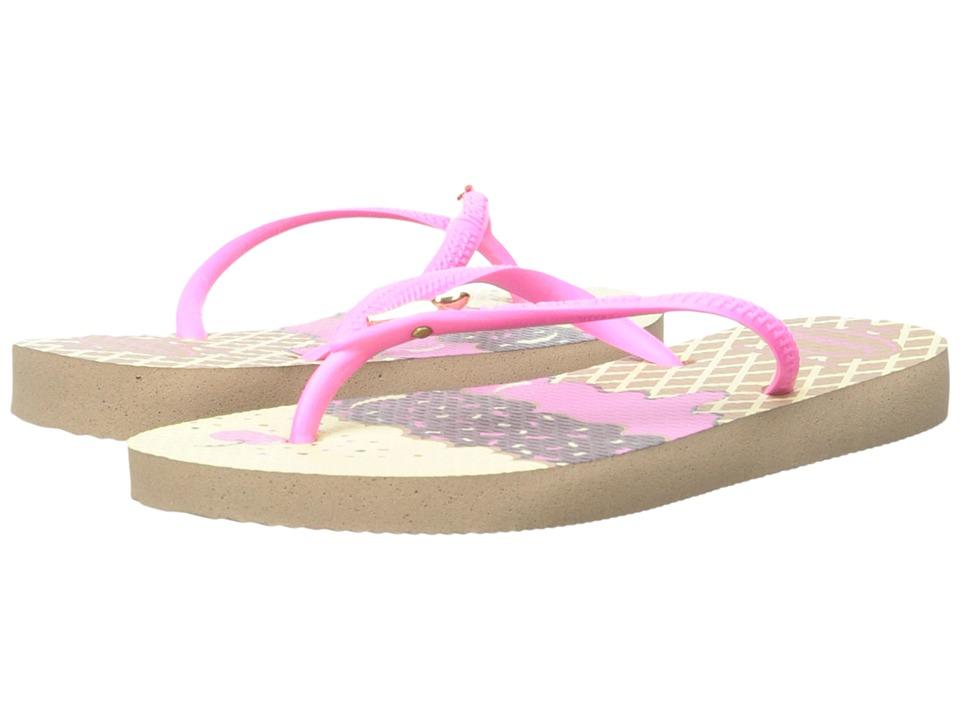 Havaianas Kids - Slim Pop (Toddler/Little Kid/Big Kid) (Rose Gold) Girls Shoes