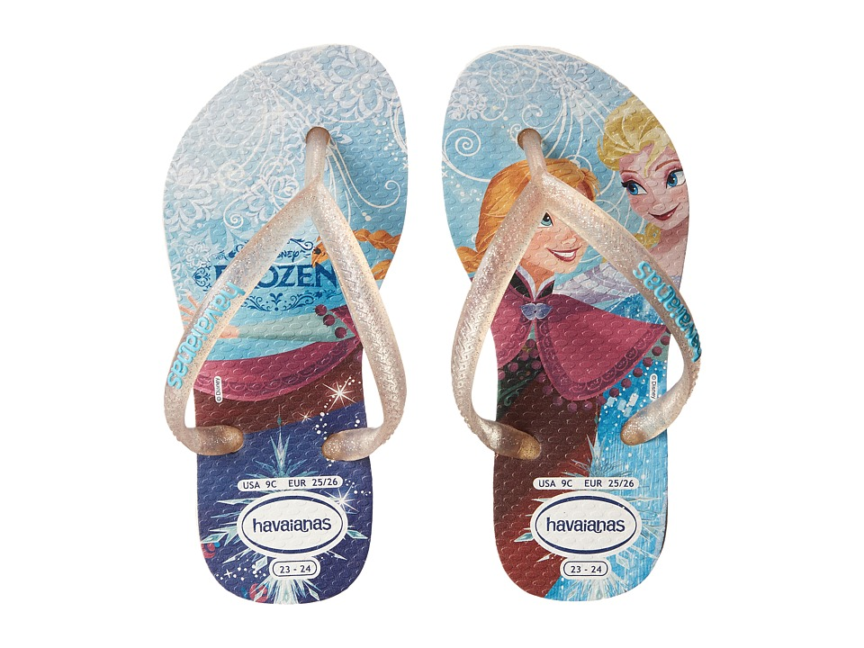 Havaianas Kids - Slim Princess Disney Flip Flops (Toddler/Little Kid/Big Kid) (White) Girl's Shoes