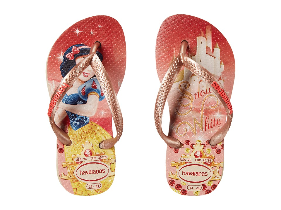 Havaianas Kids - Slim Princess Disney Flip Flops (Toddler/Little Kid/Big Kid) (Sand Grey) Girl's Shoes