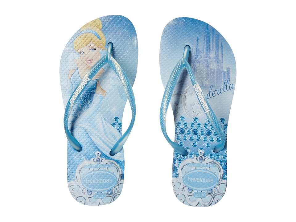 Havaianas Kids - Slim Princess Disney Flip Flops (Toddler/Little Kid/Big Kid) (Lavender Blue) Girl's Shoes
