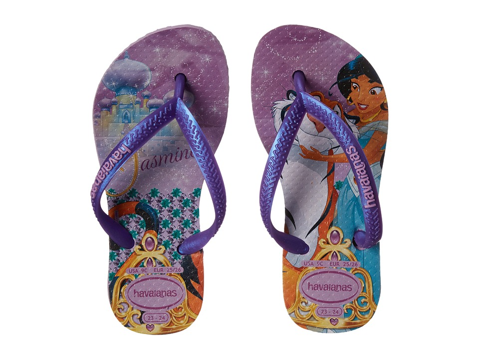 Havaianas Kids - Slim Princess Disney Flip Flops (Toddler/Little Kid/Big Kid) (Lilac/Lilac) Girl's Shoes