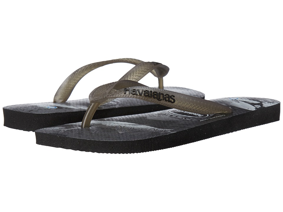 Havaianas - Conservation International Flip Flops (Black/Grey) Women's Sandals