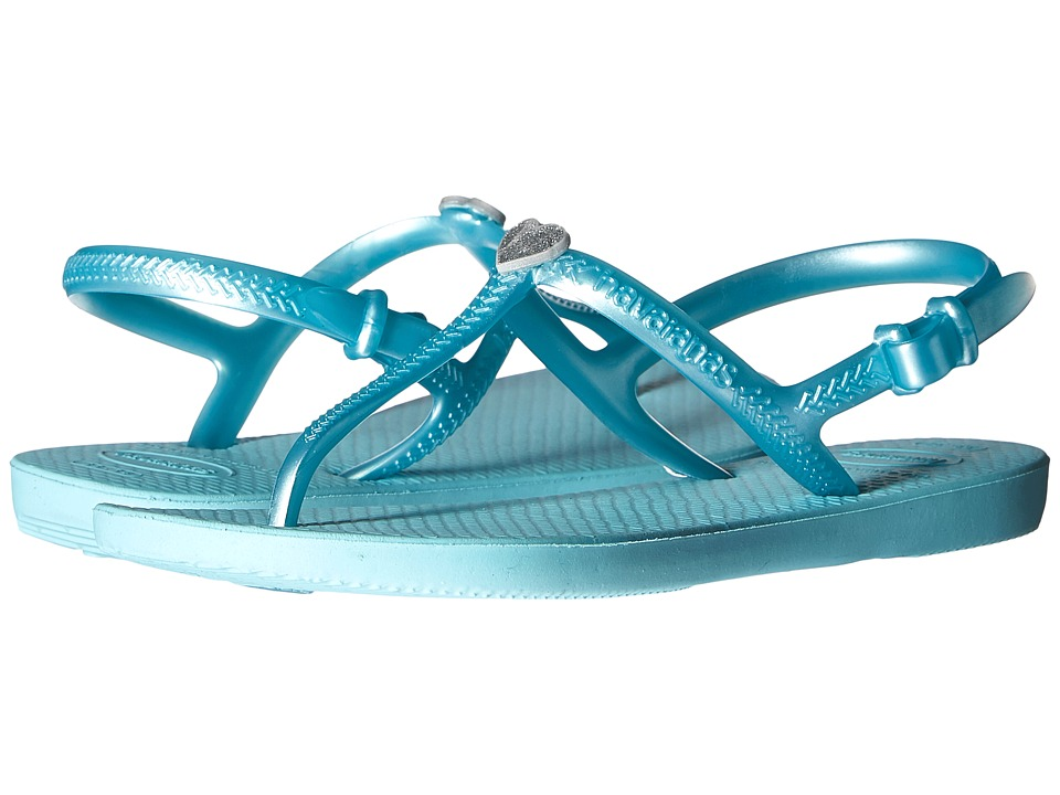 Havaianas Kids - Freedom (Toddler/Little Kid/Big Kid) (Ice Blue) Girls Shoes